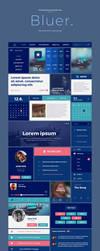 Bluer - Free UI Kit PSD by Martz90