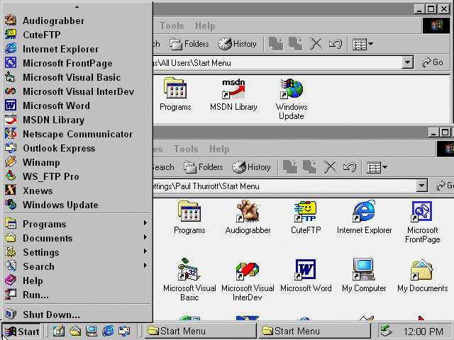 Windows 2000 Icons for Iconpackager by matthewsp