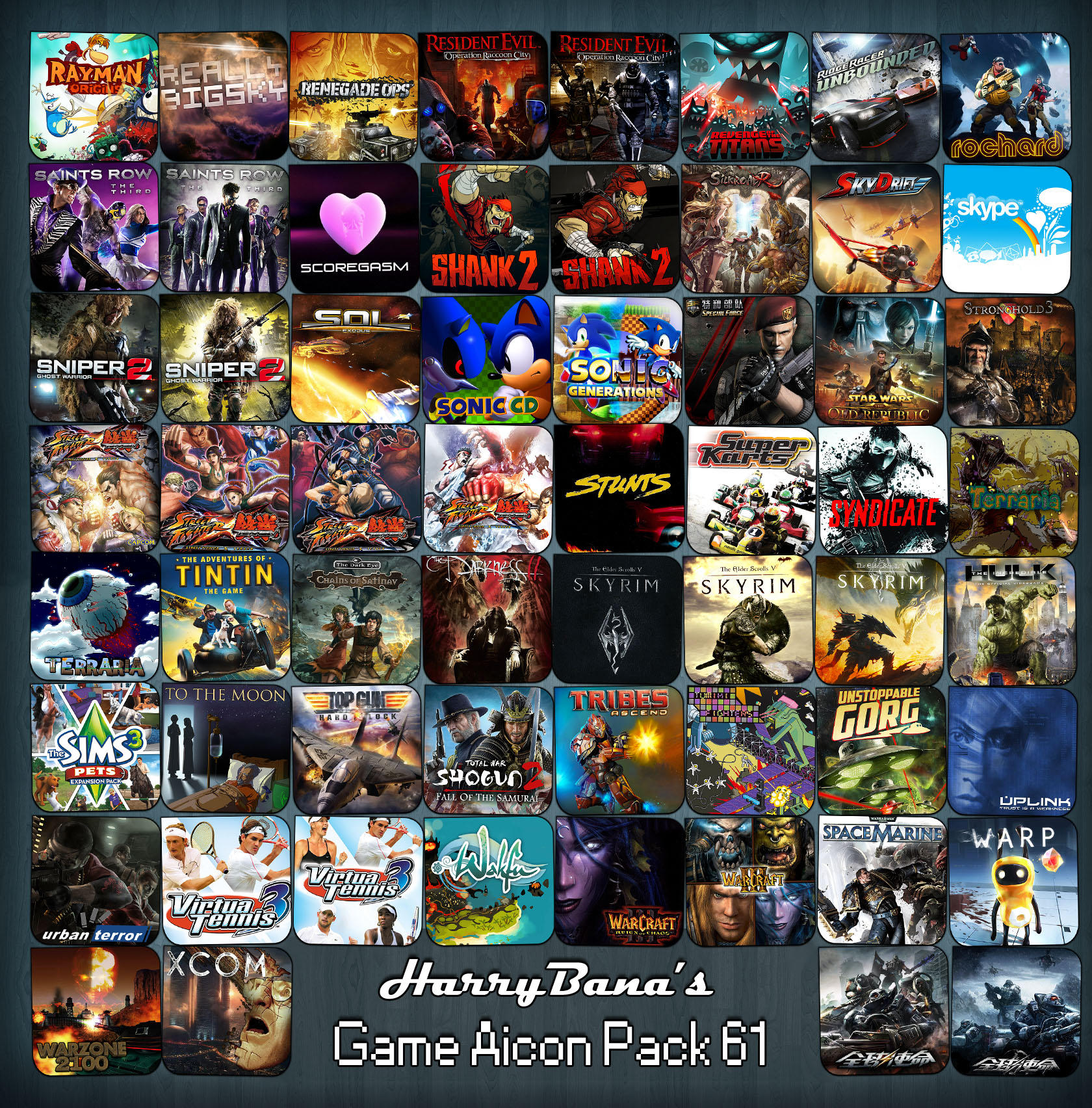 Game Aicon Pack 61 by HarryBana