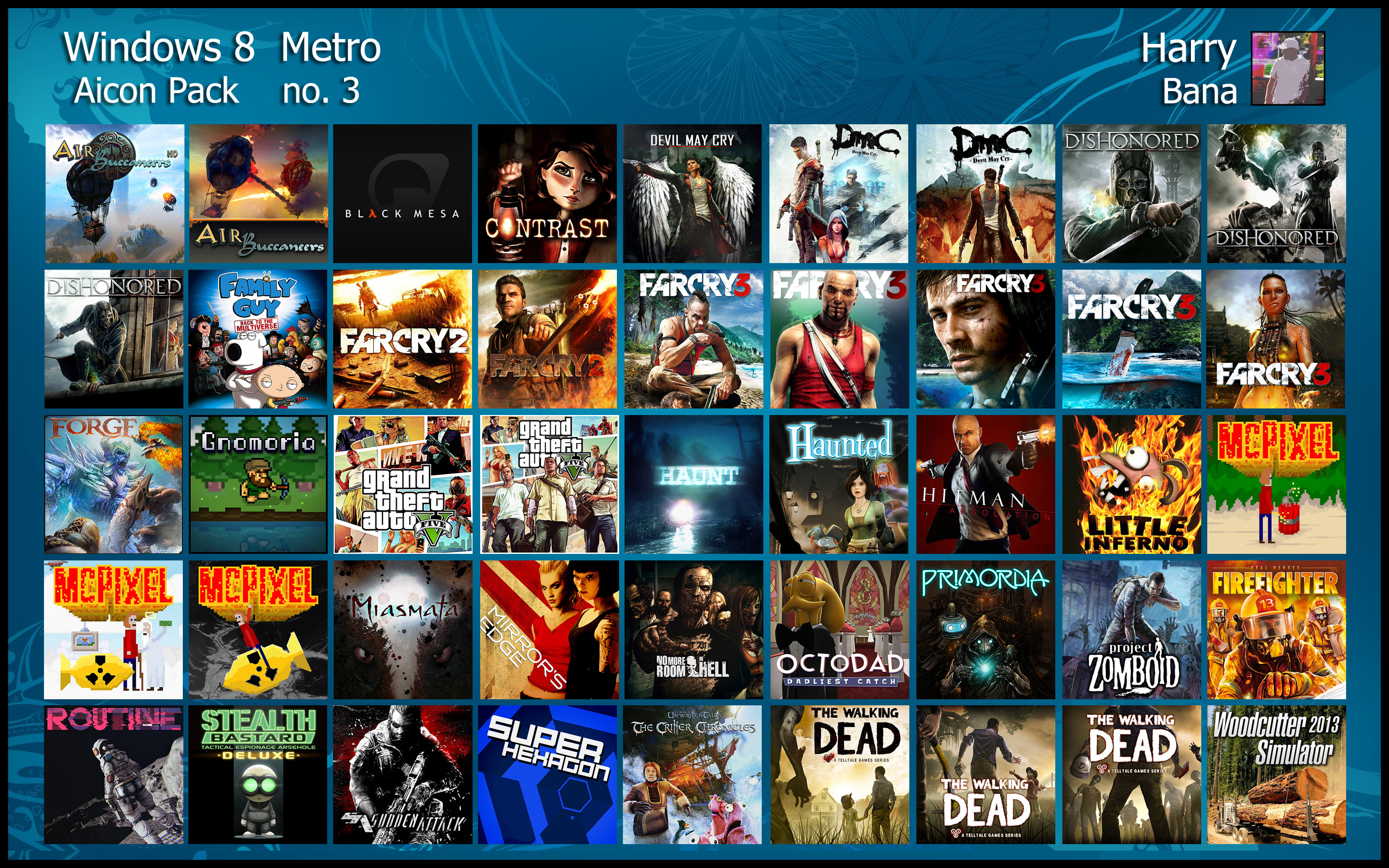 Windows 8 Metro Aicon Pack 3 by HarryBana
