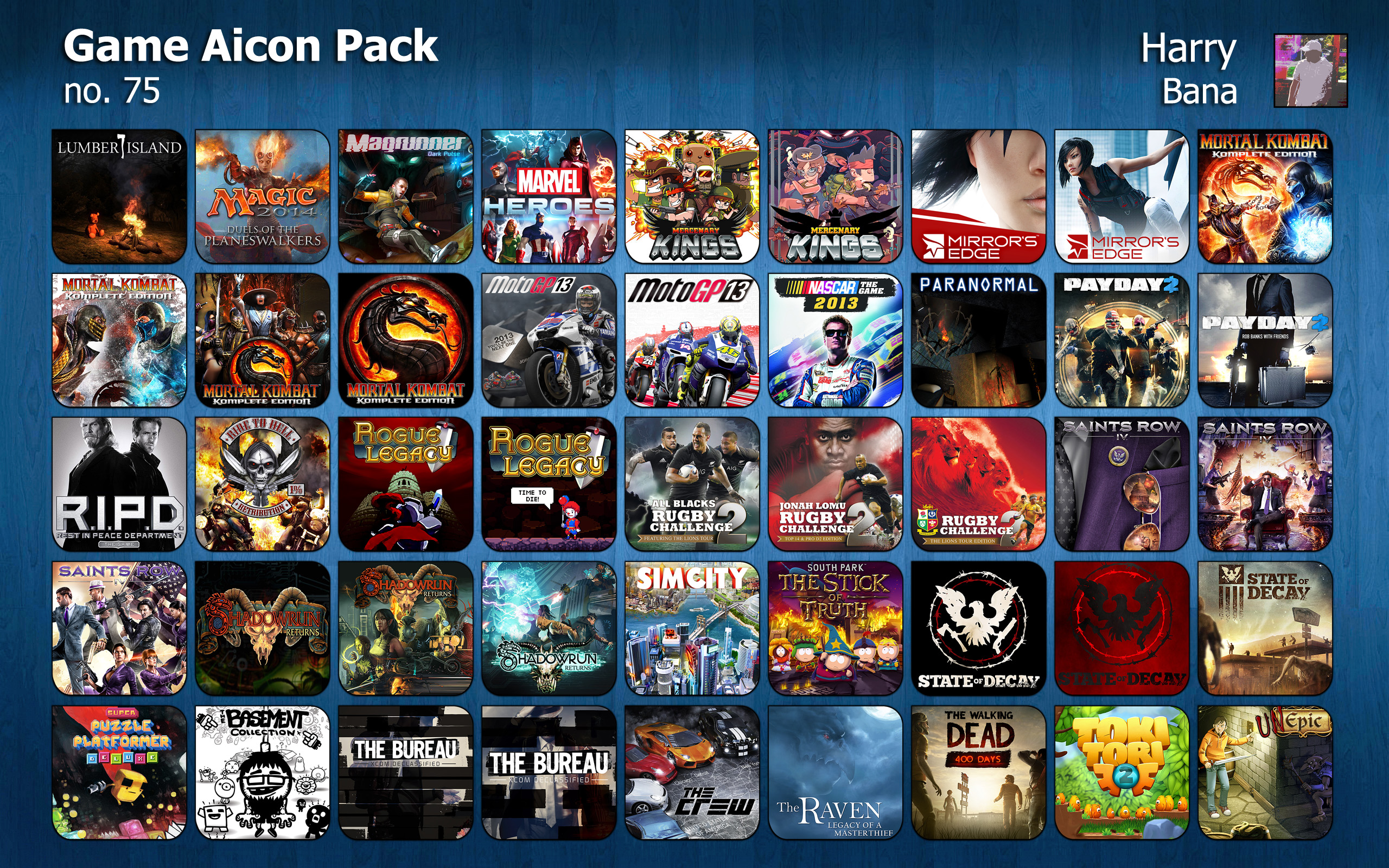 Game Aicon Pack 75 by HarryBana