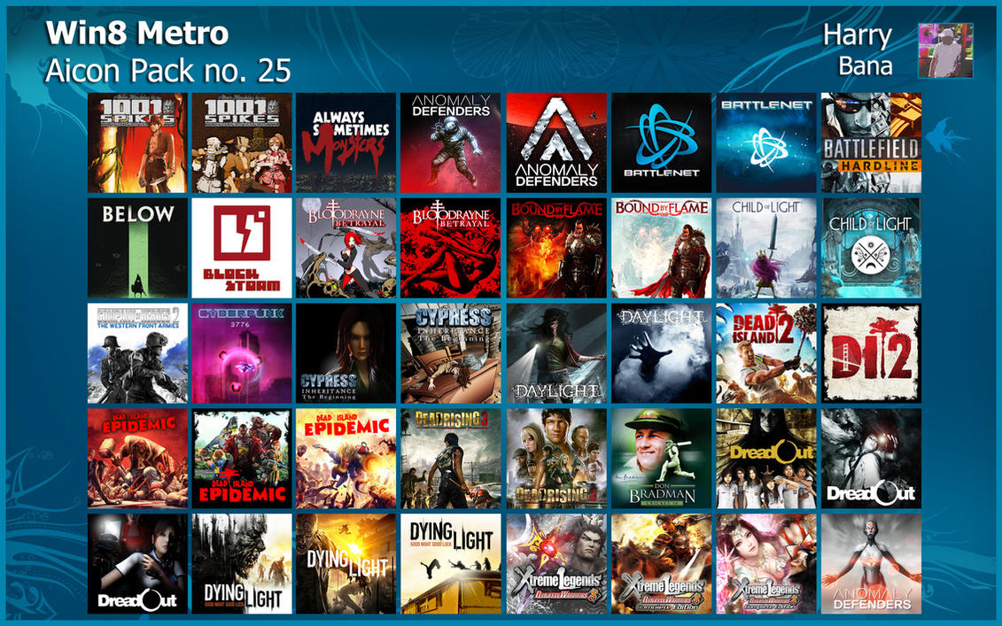 Windows 8 Metro Aicon Pack 25 by HarryBana
