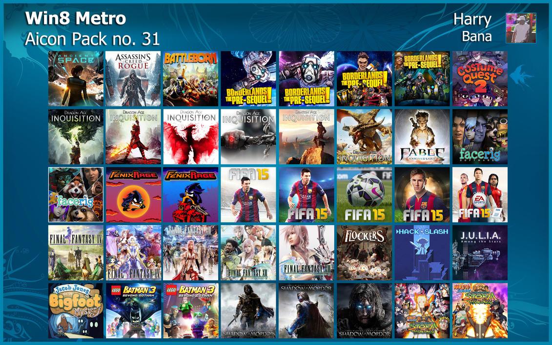 Windows 8 Metro Aicon Pack 31 by HarryBana