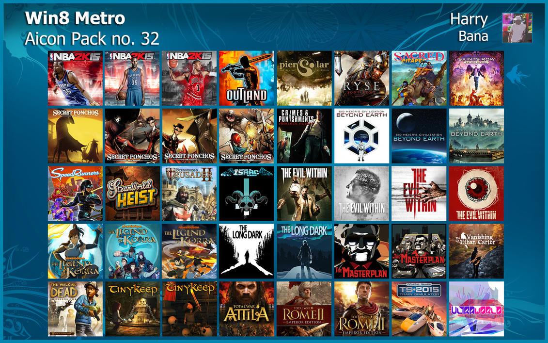 Windows 8 Metro Aicon Pack 32 by HarryBana