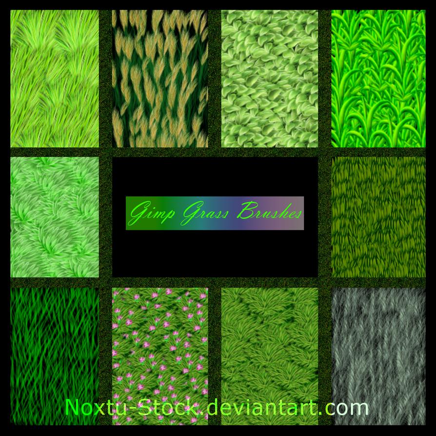 Gimp Grass Brushes by Noxtu-Stock
