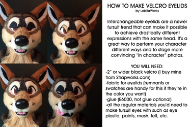 TUTORIAL: Changeable Fursuit Eyelids by LobitoWorks