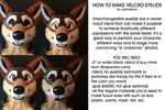 TUTORIAL: Changeable Fursuit Eyelids by LobitaWorks