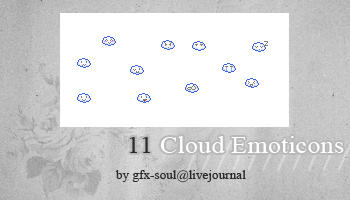 cloud emoticons by fabulousYS