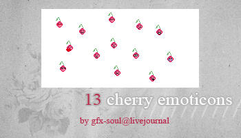 Cherry emoticons by fabulousYS