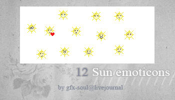 Sun emoticons by fabulousYS