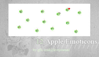 Apple Emoticons by fabulousYS