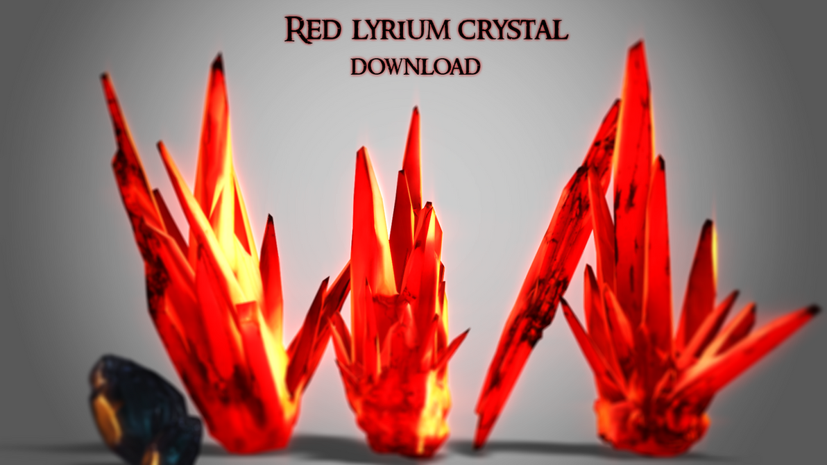 Red lyrium crystals [Downloads] by ArisuIdzuri