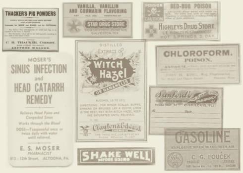Antique Labels II by brainwreck