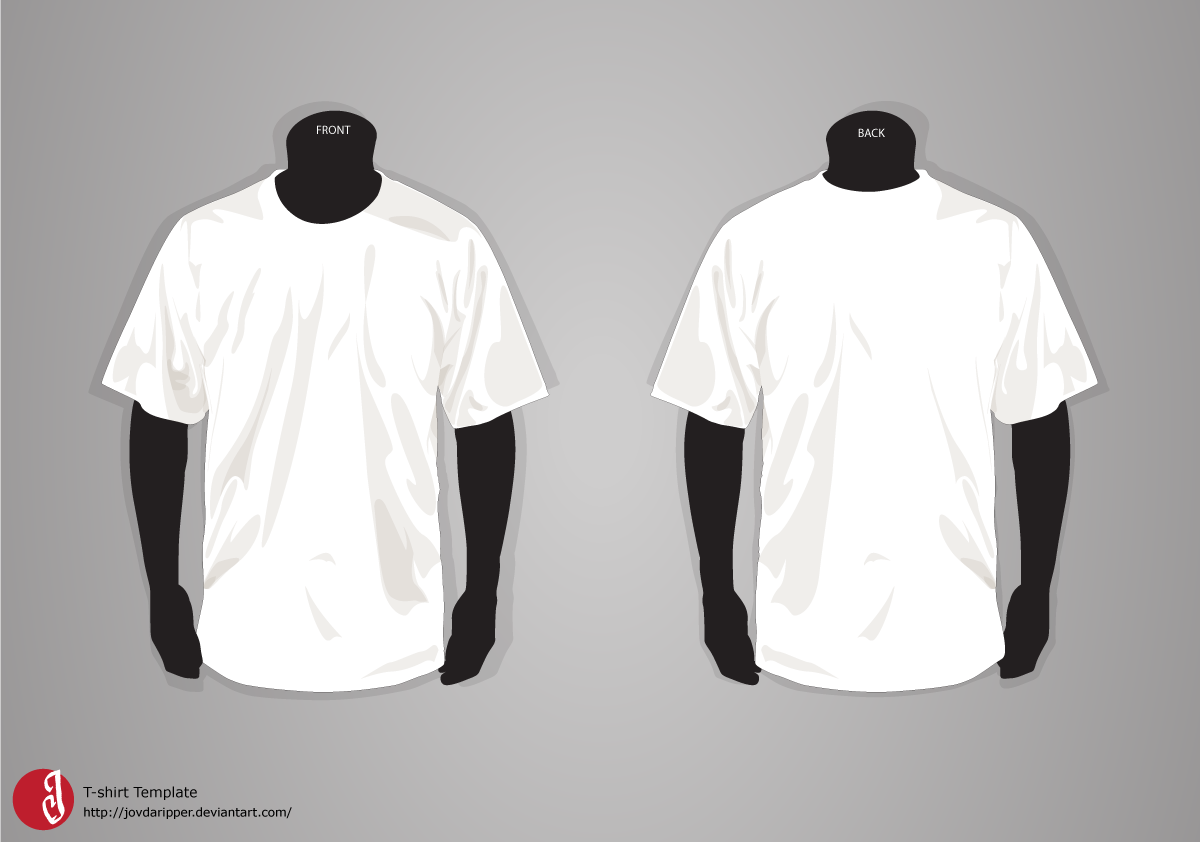 T shirt template photoshop front and back / 2018