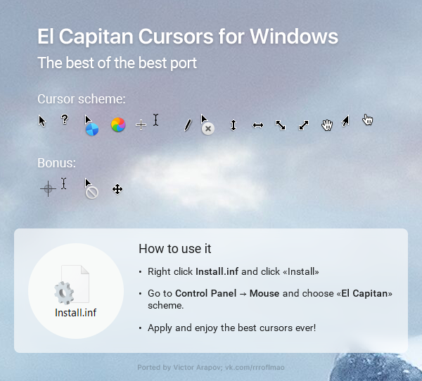 Updated ElCapitan cursors by in-dolly