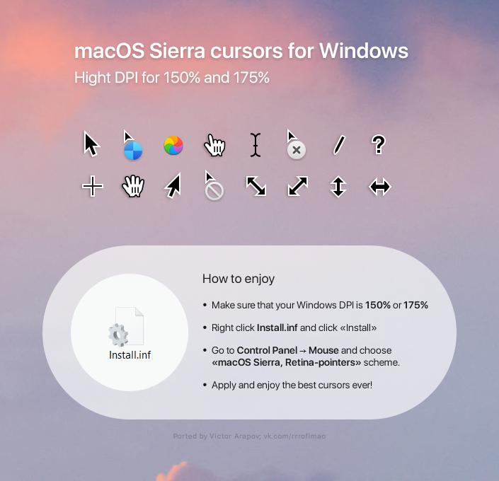 macOS Sierra Retina cursors by in-dolly on DeviantArt
