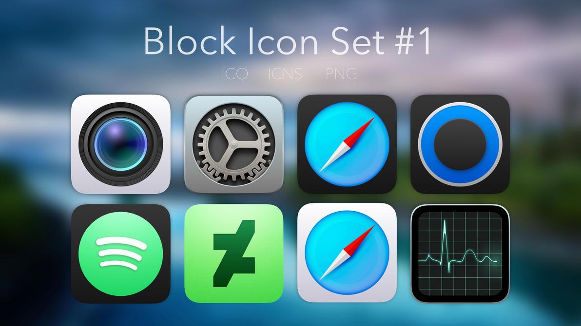 Block Icon Set #1 by xXMrMustashesXx
