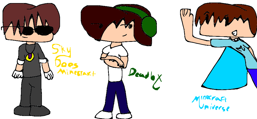 skydoesminecraft deadlox and minecraftuniverse by