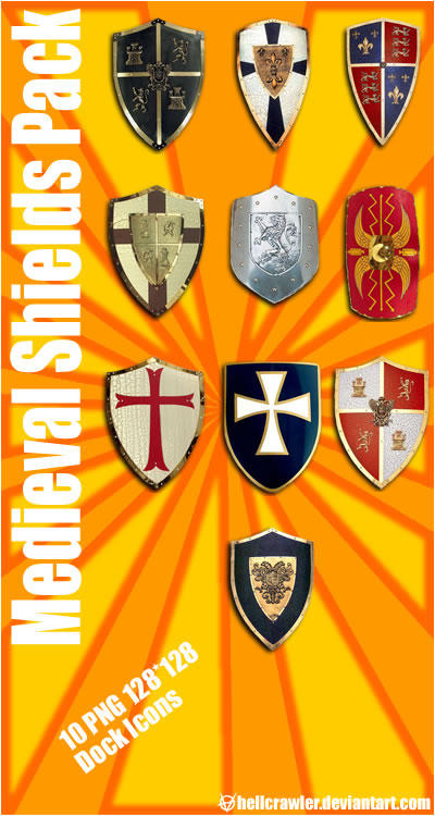 Medieval Shields by hellcrawler