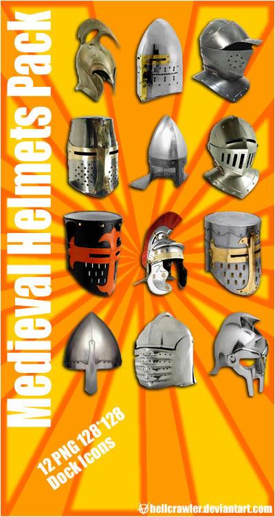 Medieval Helmets by hellcrawler
