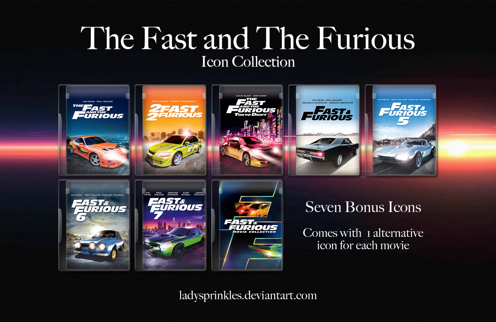 fast and furious movie icon collection by ladysprinkles on deviantart. Black Bedroom Furniture Sets. Home Design Ideas