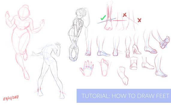 Video Tutorial: Drawing Feet + BONUS TIPS.