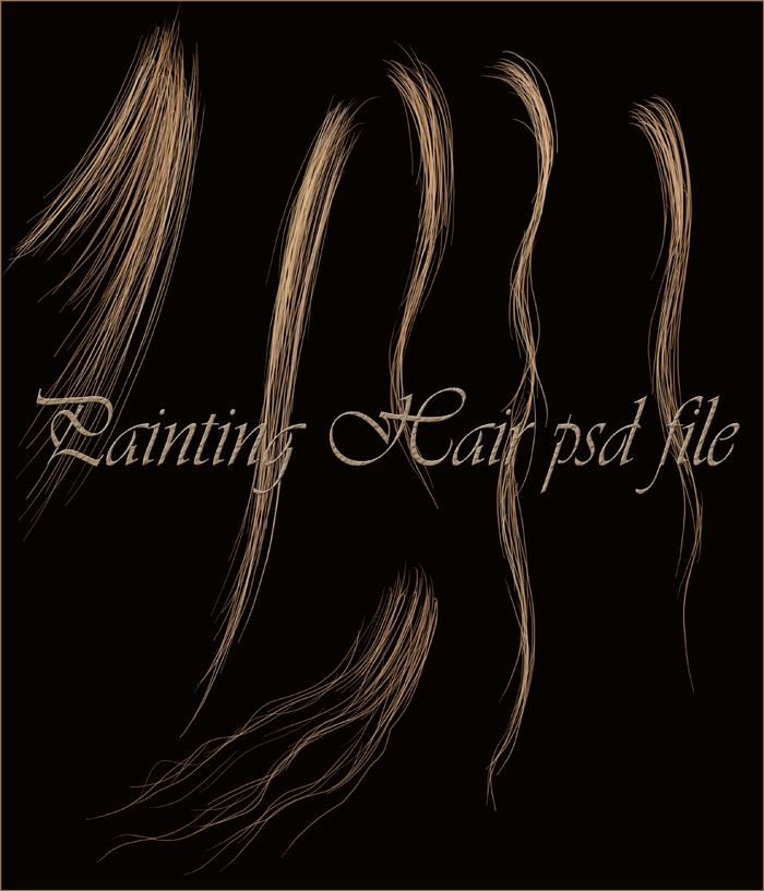 Hair stock psd file...