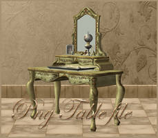 Mirror-Table 3d object by moonchild-ljilja