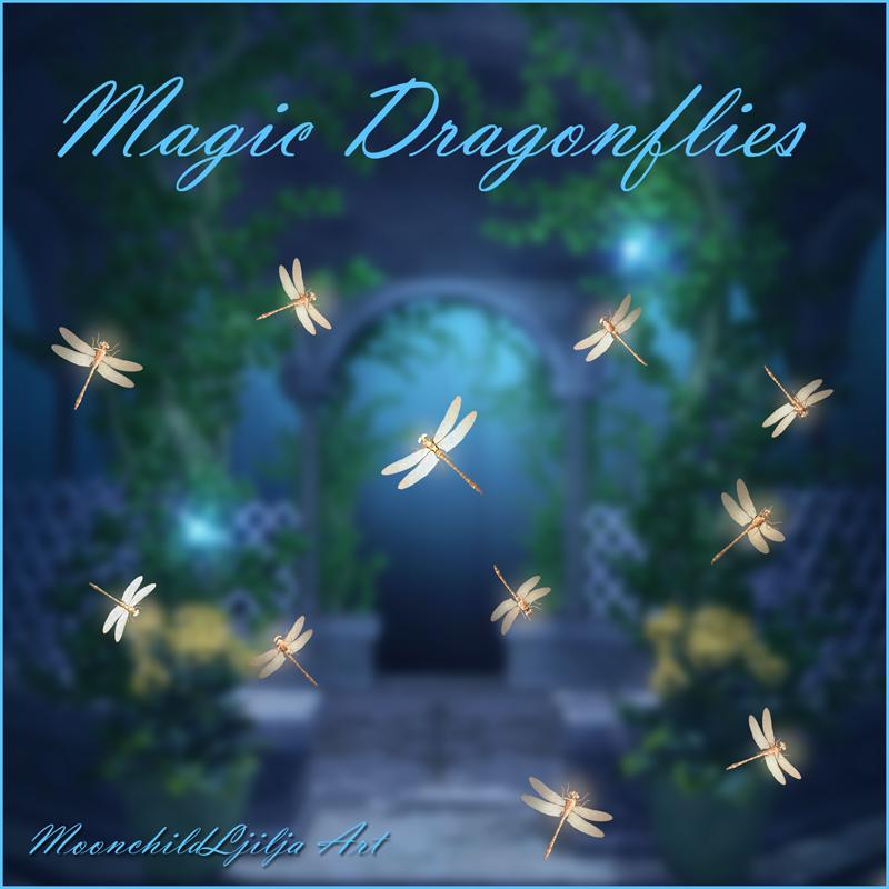 Magic Dragonflies free png