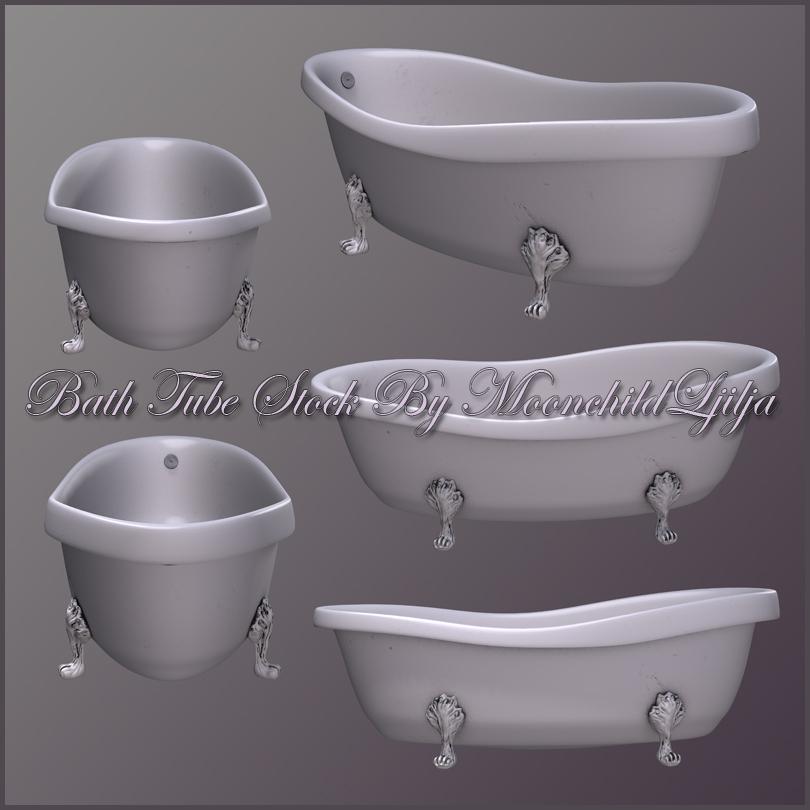 Bath Tube stock by moonchild-ljilja