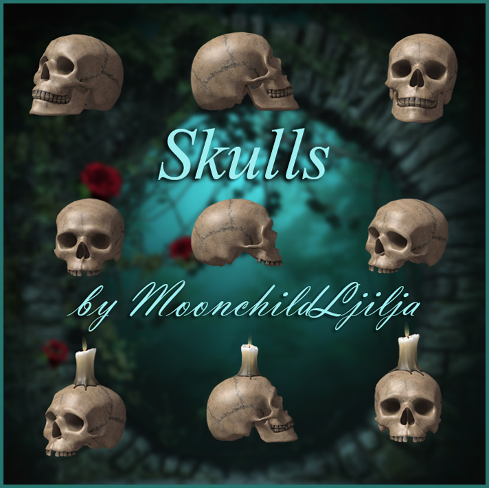 Skulls png by moonchild-ljilja