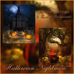 Halloween Nightmare backgrounds by moonchild-ljilja
