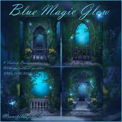 Blue Magic Glow backgrounds by moonchild-ljilja