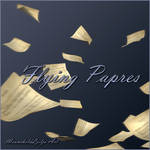 Flying Papers png by moonchild-ljilja