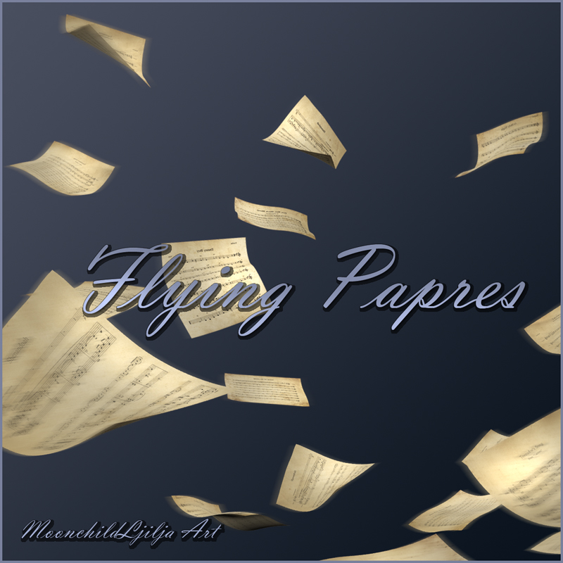 Flying Papers png by moonchild-ljilja