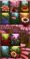 Fairy Flowers backgrounds by moonchild-ljilja