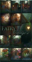 Fairy Village 2 backgrounds by moonchild-ljilja