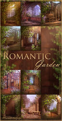 Romantic Garden backgrounds by moonchild-ljilja