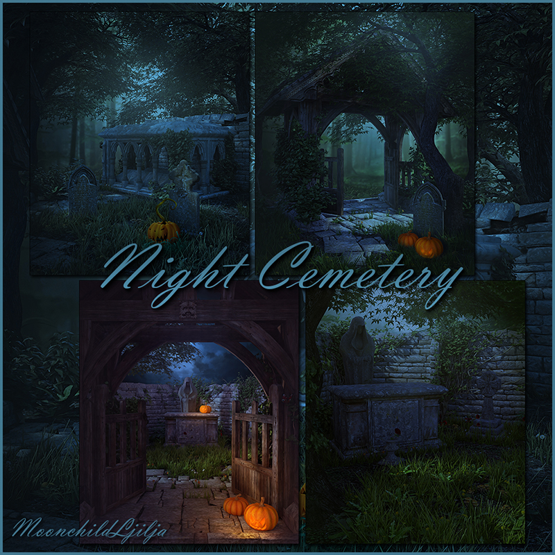 cemetery wallpaper night - photo #31