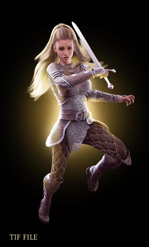 Fantasy Warrior stock by moonchild-ljilja