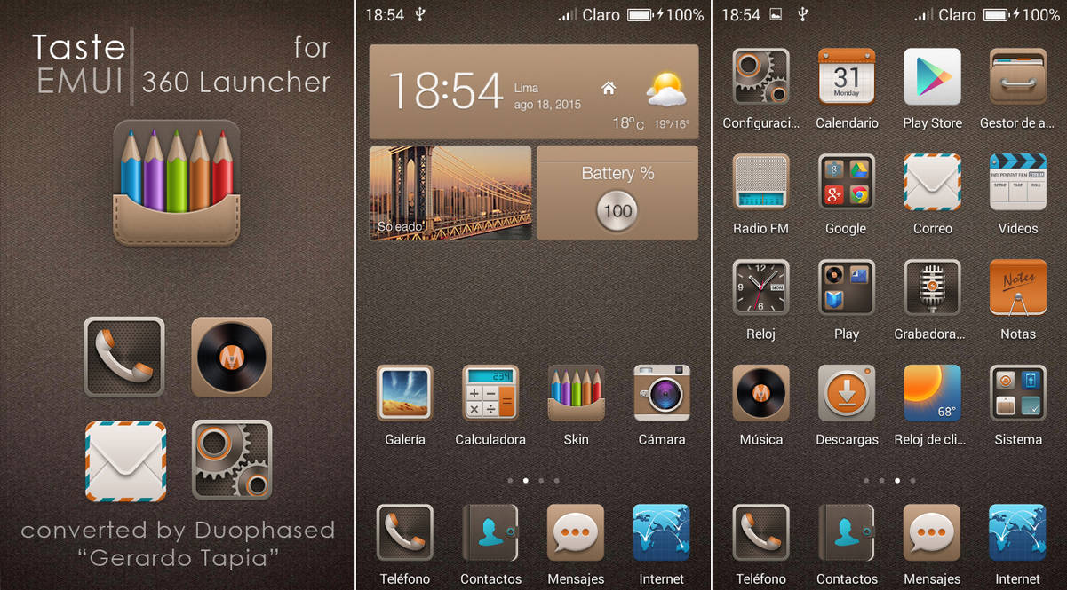 Taste EMUI theme for 360 Launcher by Duophased on DeviantArt