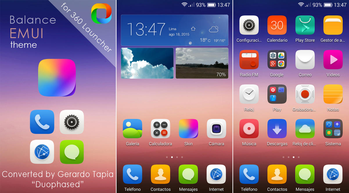 Balance EMUI theme for 360 Launcher by Duophased ...