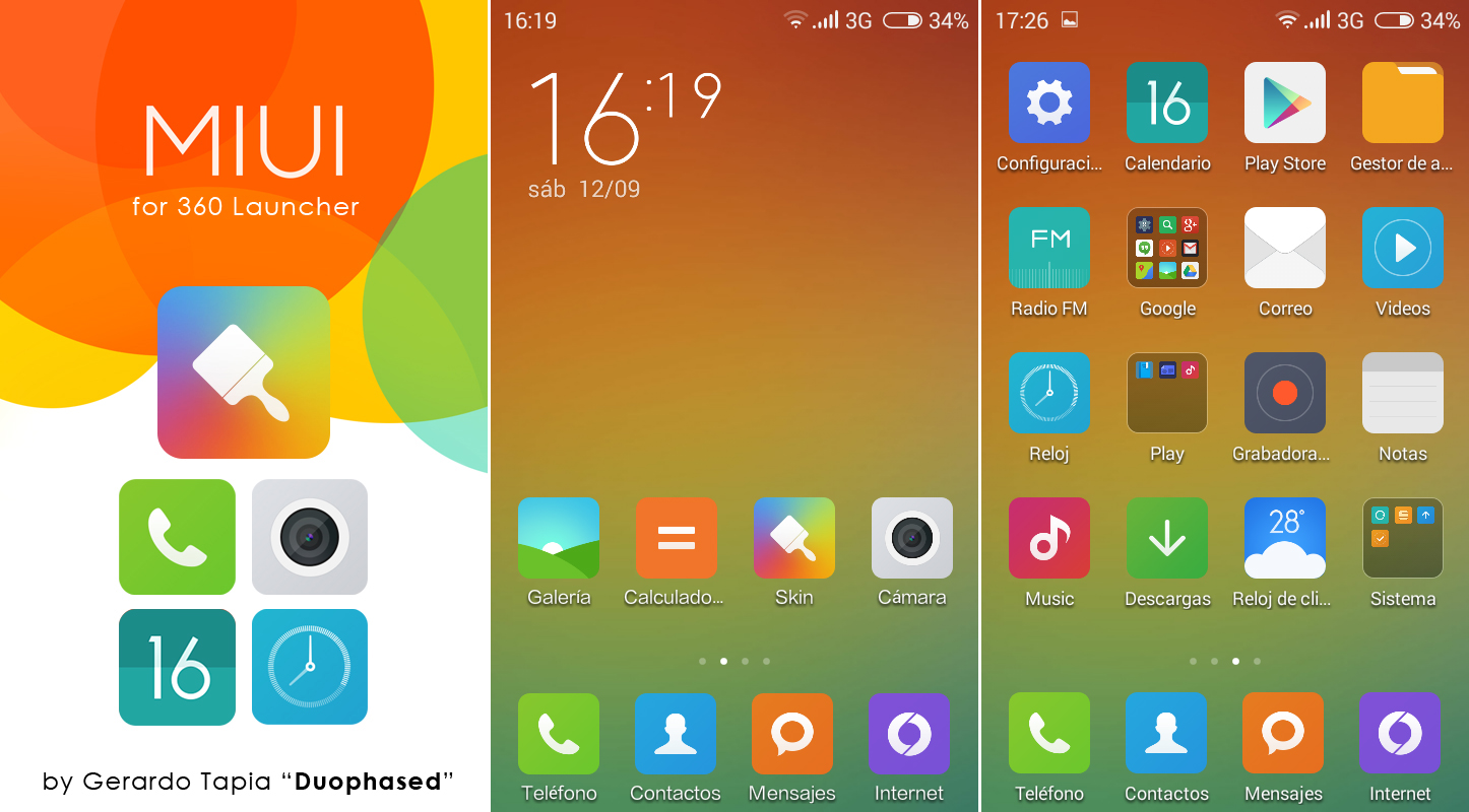 MIUI 6 Theme for 360 Launcher by Duophased on DeviantArt