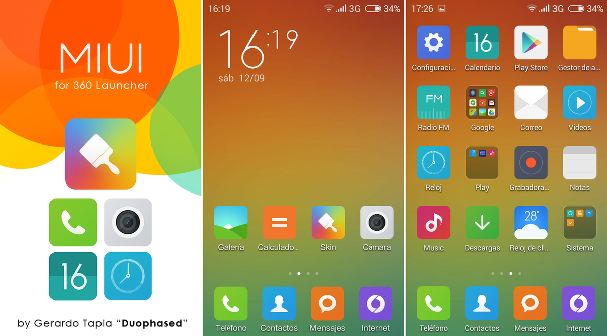 MIUI 6 Theme for 360 Launcher by Duophased ...
