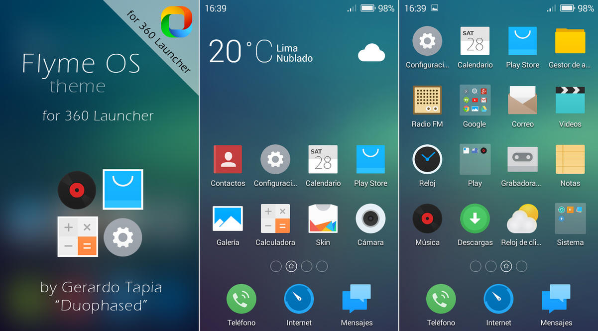 Flyme OS theme for 360 Launcher by Duophased ...