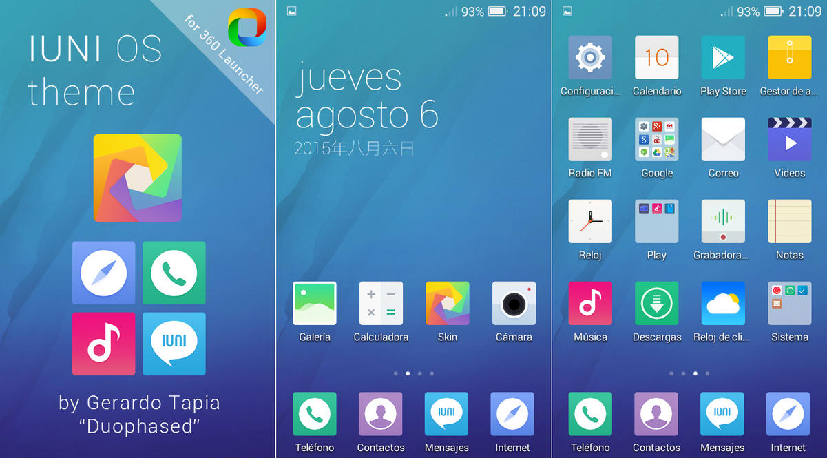 IUNI OS Theme for 360 Launcher by Duophased ...