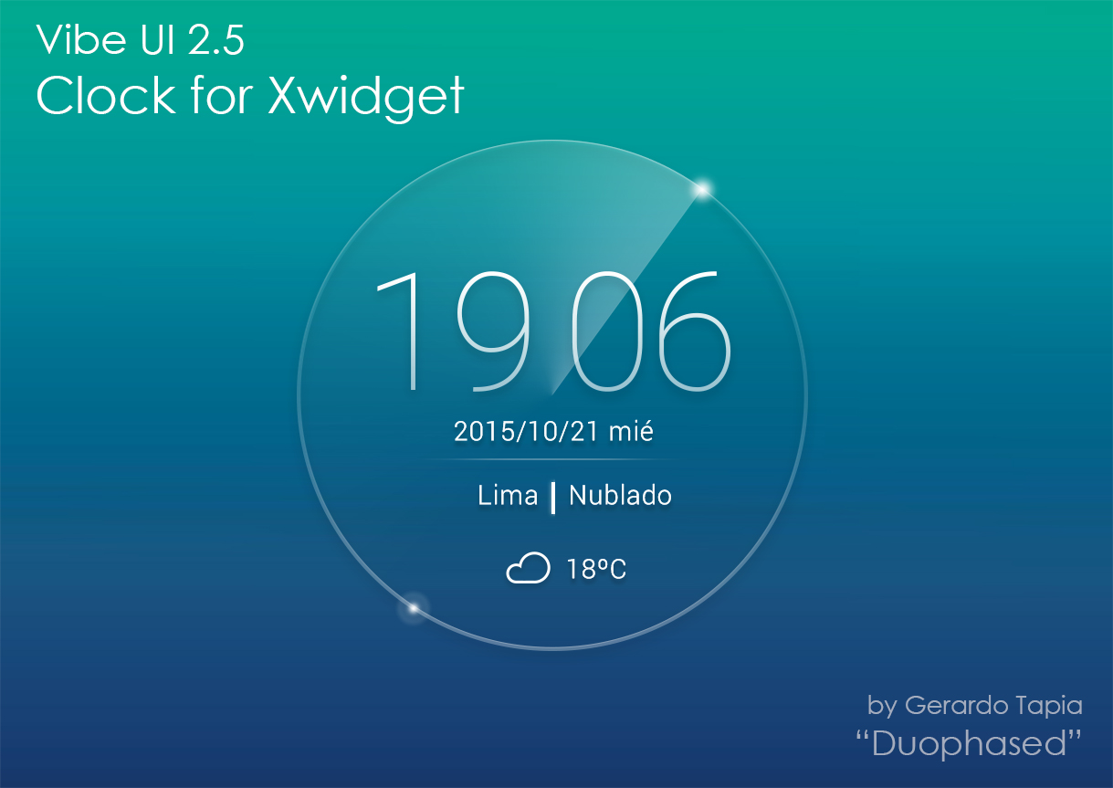 Vibe UI 2.5 Weather Clock for Xwidget by Duophased on
