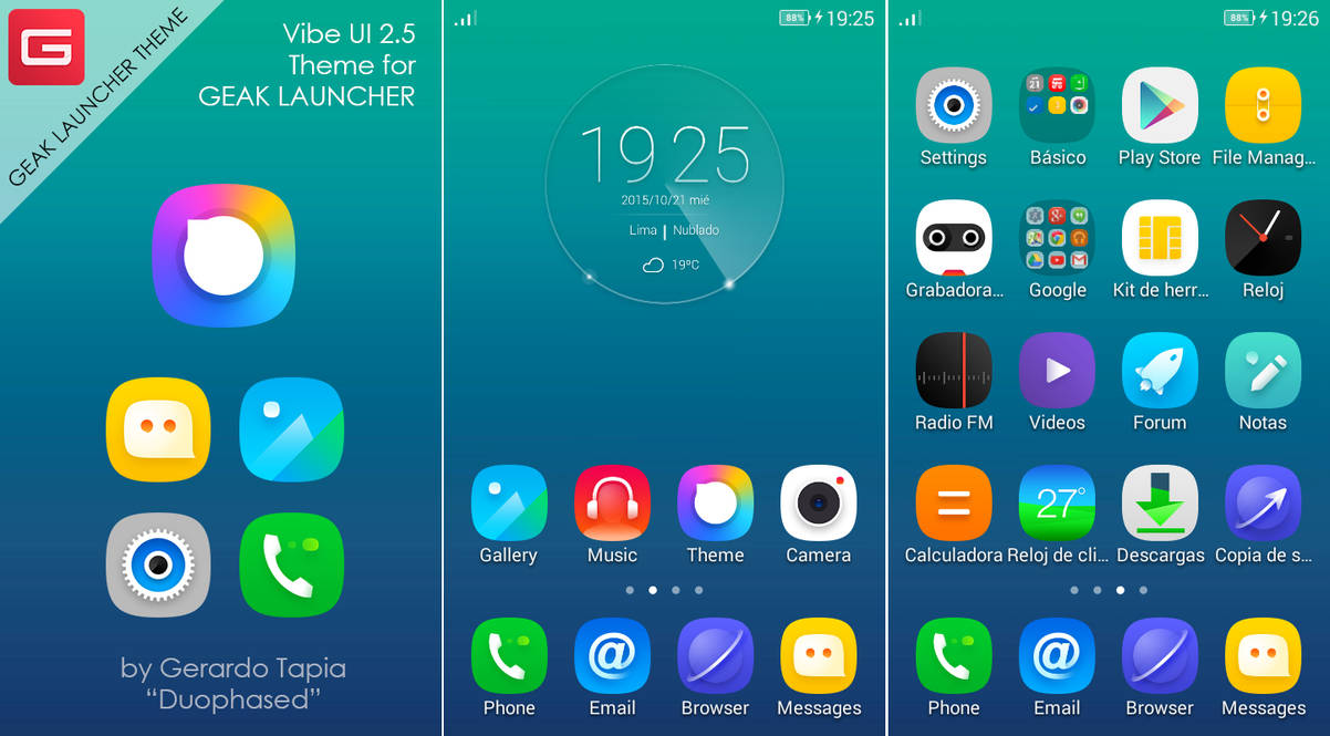 Vibe UI 2 5 Theme for Geak Launcher by Duophased on DeviantArt