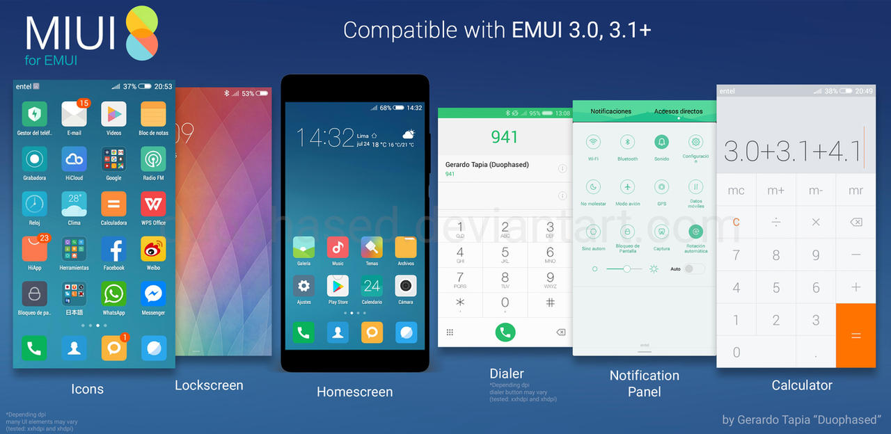 Miui 8 theme for emui by duophased on deviantart miui 8 theme for emui by duophased stopboris Images