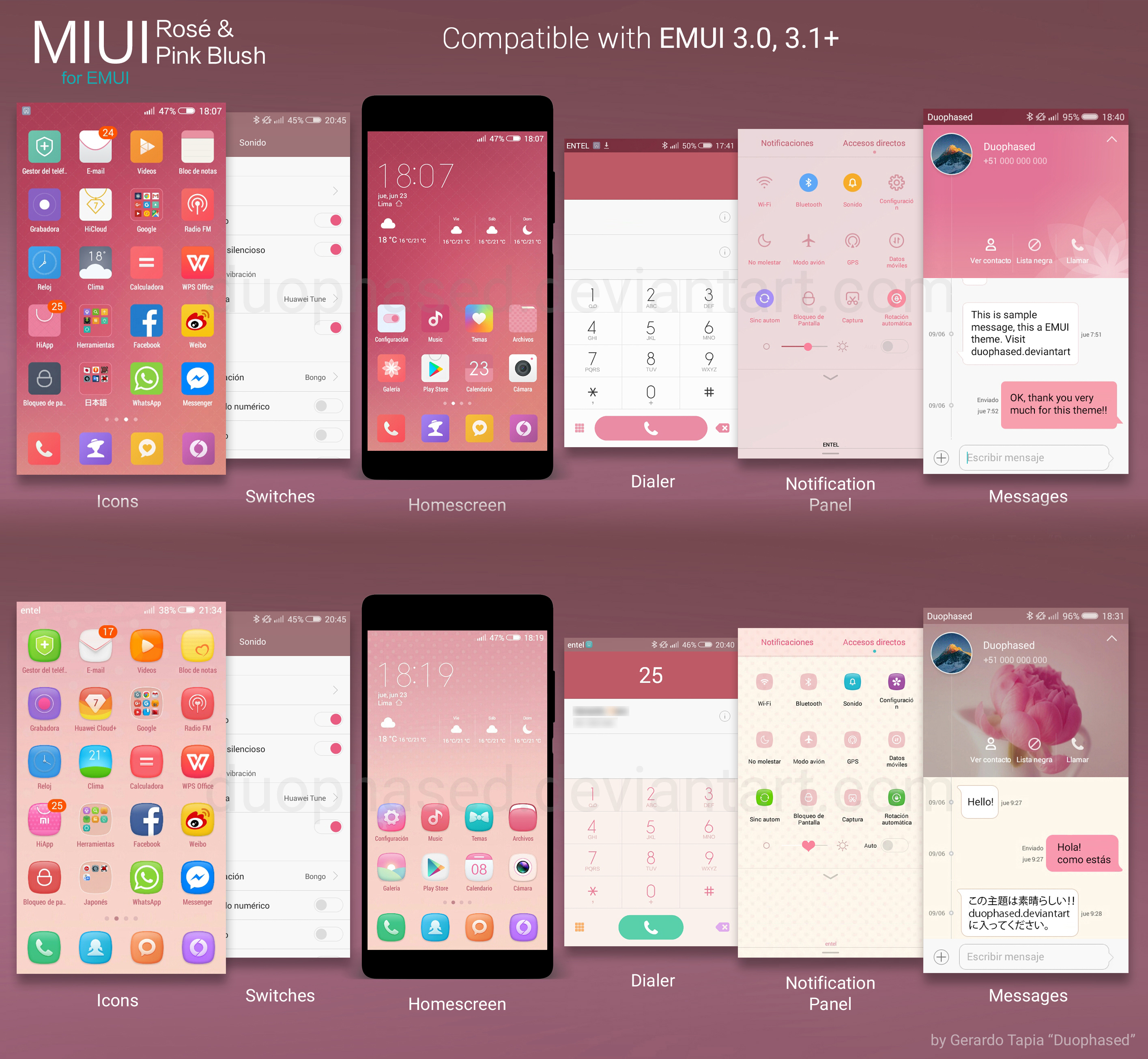 Rose and Pink Blush MIUI themes for EMUI by Duophased on DeviantArt